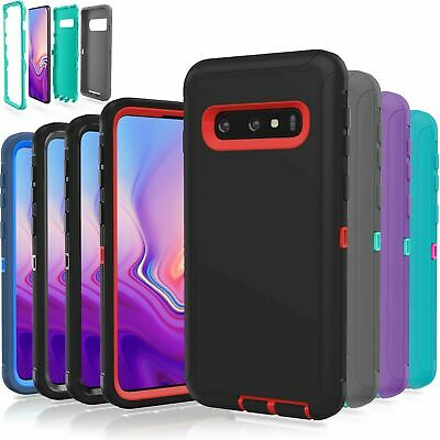 For Samsung Galaxy S10 /S10 Plus/ S10E Shockproof Armor Otterbox Clip Case Cover