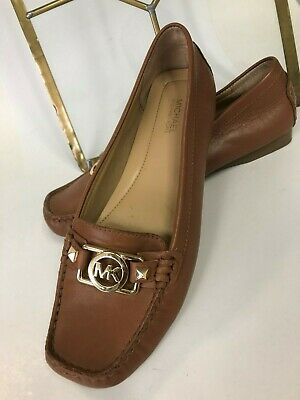 644ae464f00 Michael Kors Women s May Moc Loafers Slip On Size 7.5 m Brown Leather EUC