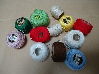 Crochet cotton 12 part reels. Variety of colours and amounts.