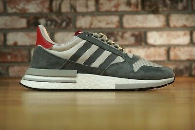 c2bb1d7b9 New Adidas Originals ZX 500 Rm Boost Grey White Sneakers B42204 Mens Size  11.5