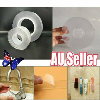 1/3/5M Multifunctional Double-Sided Traceless Washable Adhesive Tape 2019 New NW