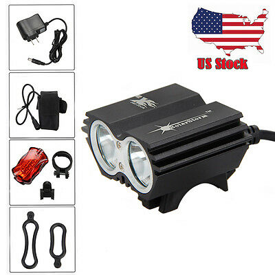 6000LM Brightness Bicycle Front Light LED Bike Head Lamp with Battery Pack Set