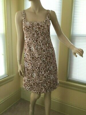 c44e89c322056 Odille Anthropologie RARE Sun Dress Size 6 Floral Empire Waist 100% cotton  EUC