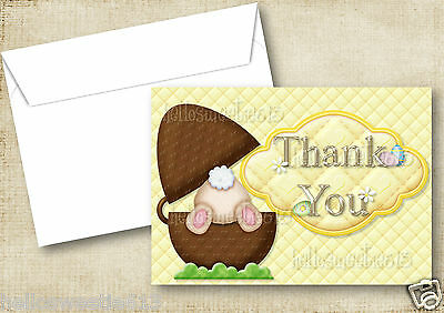 1-10 Quality Easter Thank You Cards Party Gifts Fluffy Bunny Chirpy Chick