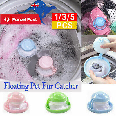 5Pcs Floating Pet Fur Catcher Reusable Hair Remover Tool for Washing Machine WF