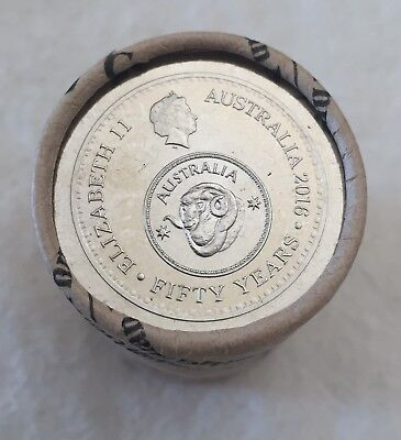 2016 50c CHANGEOVER ROYAL AUSTRALIAN MINT ROLL: HEADS/TAILS