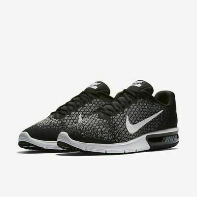 Nike Air Max Sequent 2 Men's Running Training Shoes Black/White/Grey 852461 005