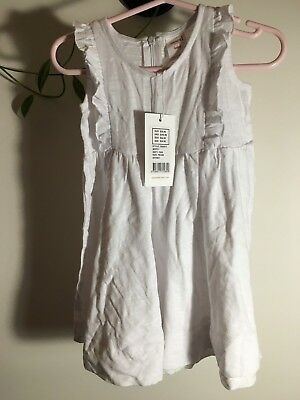 Seed Baby white cotton dress 18-24 months