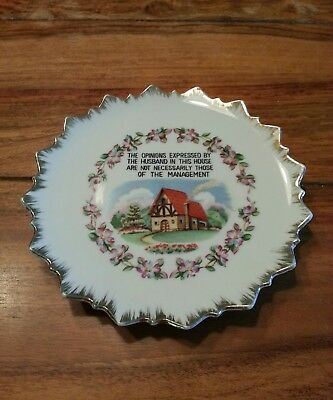 Vintage Bradley Free Standing Wall Hanging Decorative Plate