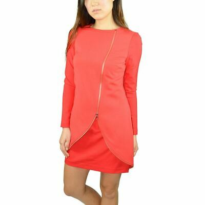 9b6f6acf8c53bf Ted Baker Women s Edlyn Asymmetrical Neck Zip Front Tunic Dress Red  1   Msrp275