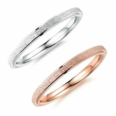 2mm/4mm Stainless Steel Ring Band Titanium Silver Men's Size 4-9 Wedding Rings