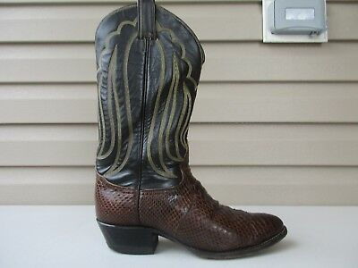 1745a41cb90 TONY LAMA MENS Cowboy Boots Western Brown Snake Reptile Leather 9 D ...