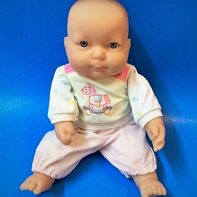 """Berenguer Baby Doll - Blowing Bubbles - 28cm (11""""), Blue-Grey Eyes, Soft Body"""