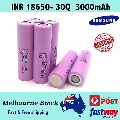 Samsung Genuine 18650 Rechargeable Lithium Battery 3000mAh 30A Li-ion Batteries