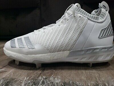 b56f02485e1 Adidas Boost Icon 3 Metal Baseball Cleats White Silver Gray Size 11.5 (  B39165 )