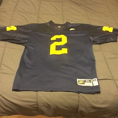 newest 1d428 723b6 AUTHENTIC NIKE UNIVERSITY Of Michigan Charles Woodson Jersey ...