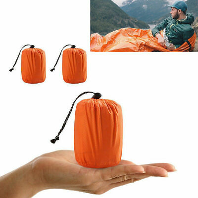 Portable Emergency Sleeping Bag Thermal Waterproof Survival Camping Travel Bag