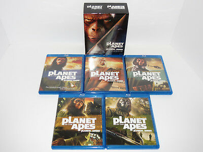 Planet of the Apes 5 Film Collection Blu Ray Box Set Movies New