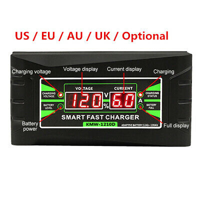 Car Battery Charger 12V 6A 3 Phase PWM Fast Vehicle HGV Lorry, ROHR Motorcycle