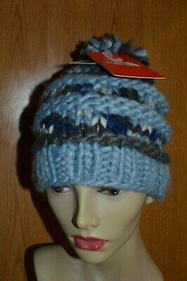 60b114db4dbca North Face Unisex Women s Men s Nanny Hand Knit Beanie Pom pom Hat One Size  Blue