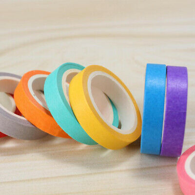 10 pcs Candy Color DIY Decorative Washi Sticky Paper Adhesive Label Craft TapeN7