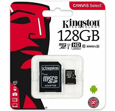 KINGSTON 128GB Micro SD 80MB/s Memory Card For GoPro Hero4 Session Action Camera