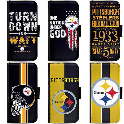 PIN-1 Pittsburgh Steelers Phone Wallet Flip Case Cover for All Models