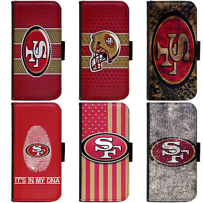 PIN-1 San Francisco 49ers Phone Wallet Flip Case Cover for All Models