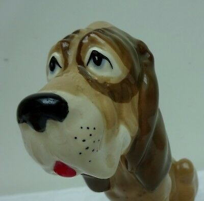 Szeiler Made in England Sitting Bloodhound Dog Large Figurine Hound Comic 1950's