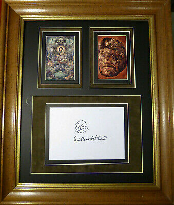 GUILLERMO DEL TORO PAN'S LABYRINTH SIGNED SELF PORTRAIT SKETCH DISPLAY With COA