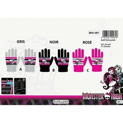 Black - Set Gloves Monster High - One Size - New the Unit