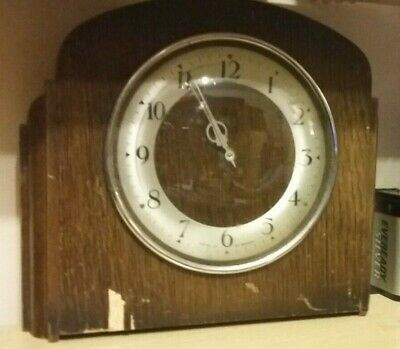 Vintage clock Art Deco Style for spares or repair (cannot make out the maker)