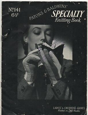 Vintage Knitting Book - Gloves - Patons Specialty Knitting Book 141 - 1940s