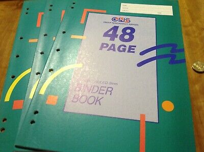 Binder Book A4 48 Page 3 Pack