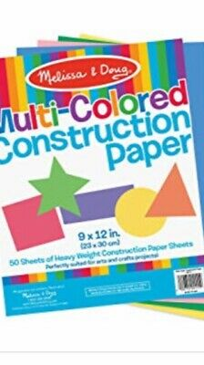 Melissa & Doug Multicoloured Construction Paper 50 Sheets Heavy Weight Paper