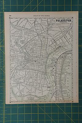 Philadelphia Pennsylvania Vintage Original 1892 Rand McNally World Atlas Map Lot