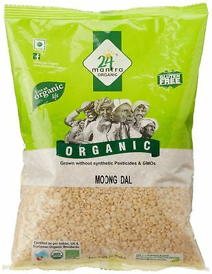 MOONG DAL (Pulses) 500gm,24 Mantra Organic,Rich in Protein Live an Organic Life