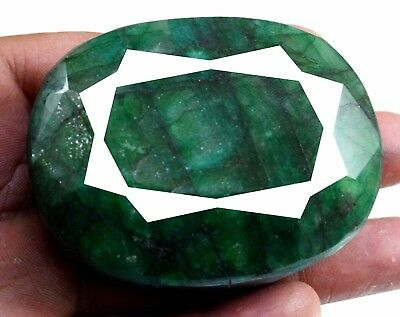 1143ct Biggest Natural Oval Size Green Emerald Faceted Loose Gemstone on ebay