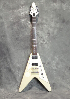 Used Epiphone FLYING-V Arctic White Electric Guitar From Japan