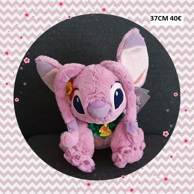 Peluche Doudou Disney Stitch Angel Hawaïen TBE 37cm NEUF