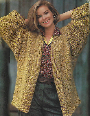 LADIES CHUNKY KNITTING Patterns Easy Knit Sweaters Crew   Polo Mens ... 3dde56dc0