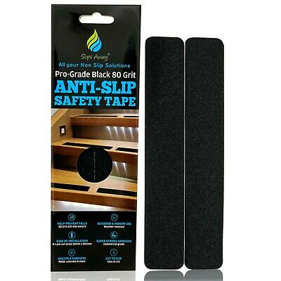 Non Slip Tape Black Strong Self Adhesive Strips for Anti Skid Grip Floor Stairs
