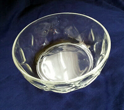 ARCOROC FRANCE CLEAR Glass Thumbprint Design 7 75