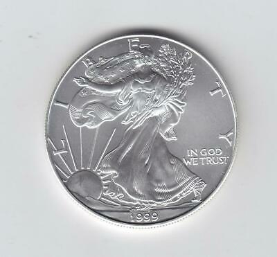 1999 1 oz AMERICAN SILVER EAGLE BRILLIANT UNCIRCULATED ASE