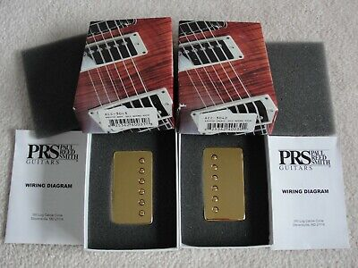 paul reed smith mccarty archtop pickups neck bridge set pair gloss gold exc
