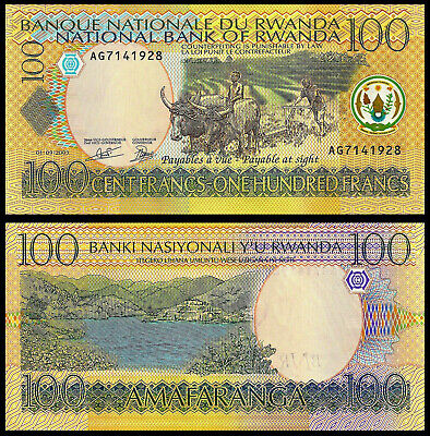 50 NOTES RWANDA AFRICA 100 FRANCS 2003 P 29 UNC  HALF BUNDLE OF