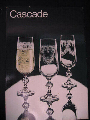 ~Set of 6 Cascade Champagne Flutes Bohemia Etched Crystal!