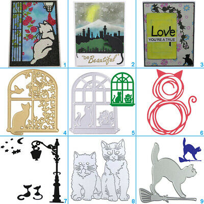 Fun Cat Metal Cutting Dies Stencil DIY Scrapbooking Paper Card Embossing Craft