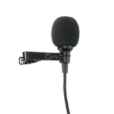 Mini 3.5mm Jack Microphone Tie Clip Microphones for Speech 2.4m Long Cable