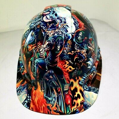 Hard Hat custom hydro dipped , OSHA approved FULL COLOR DEATH RIDER !!!NEW!!!!